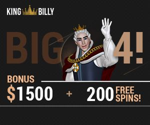 Latest bonus from King Billy Casino