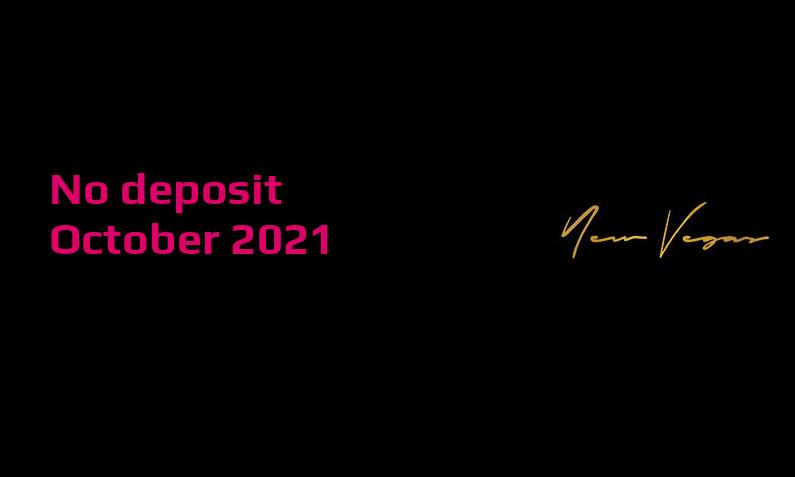 Latest no deposit bonus from NewVegas- 5th of October 2021